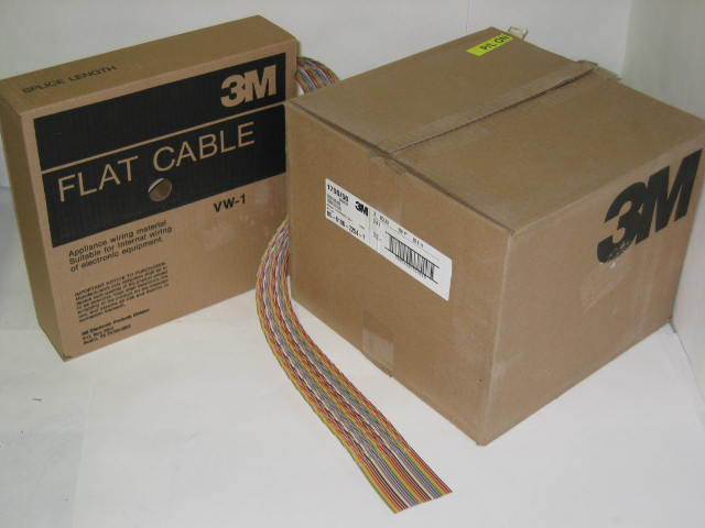3m Ribbon Cable : M conductor awg flat ribbon cable qty