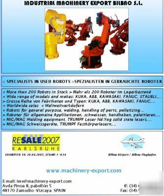 Used abb robots used kuka robots used fanuc robots