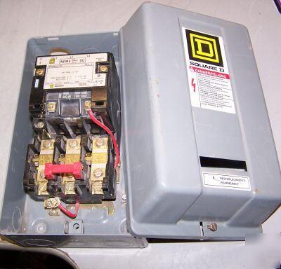 Square D Size 00 Enclosed Motor Starter 120 Volt Coil