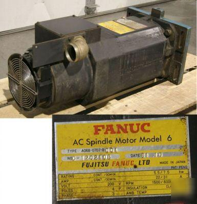 Fanuc A06b 0707 B001 Ac Spindle Motor Model 6