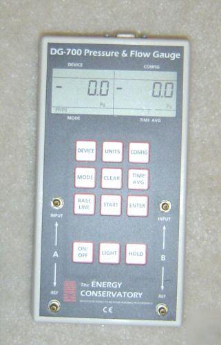 Energy Conservatory Dg 700 Pressure Gauge W Fan Control
